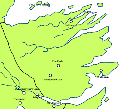 The Vale and the location of the Gates of the Moon